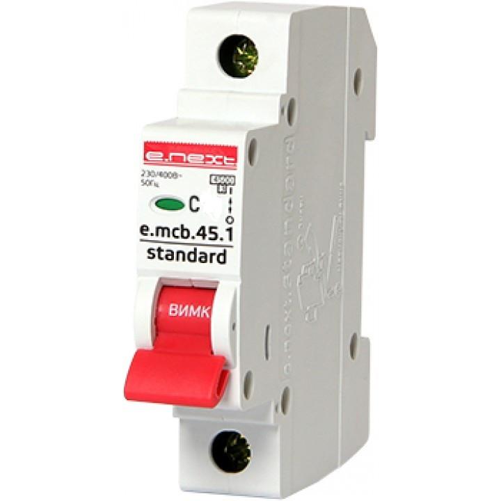 Автоматический выключатель 1р 25А 4,5кА х-ка C E.NEXT