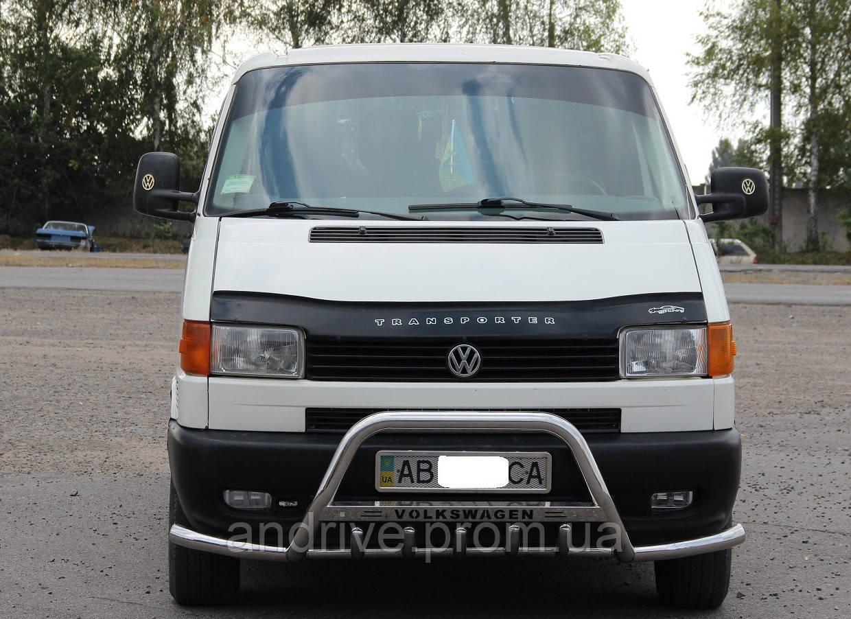 Кенгурятник с усами (защита переднего бампера) Volkswagen T4 (Transporter) 1990-2003