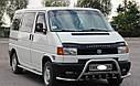 Кенгурятник с усами (защита переднего бампера) Volkswagen T4 (Transporter) 1990-2003, фото 3