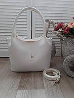 Женская большая белая сумка
