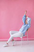 Жіноча вишиванка з білою вишивкою Голуби, фото 2