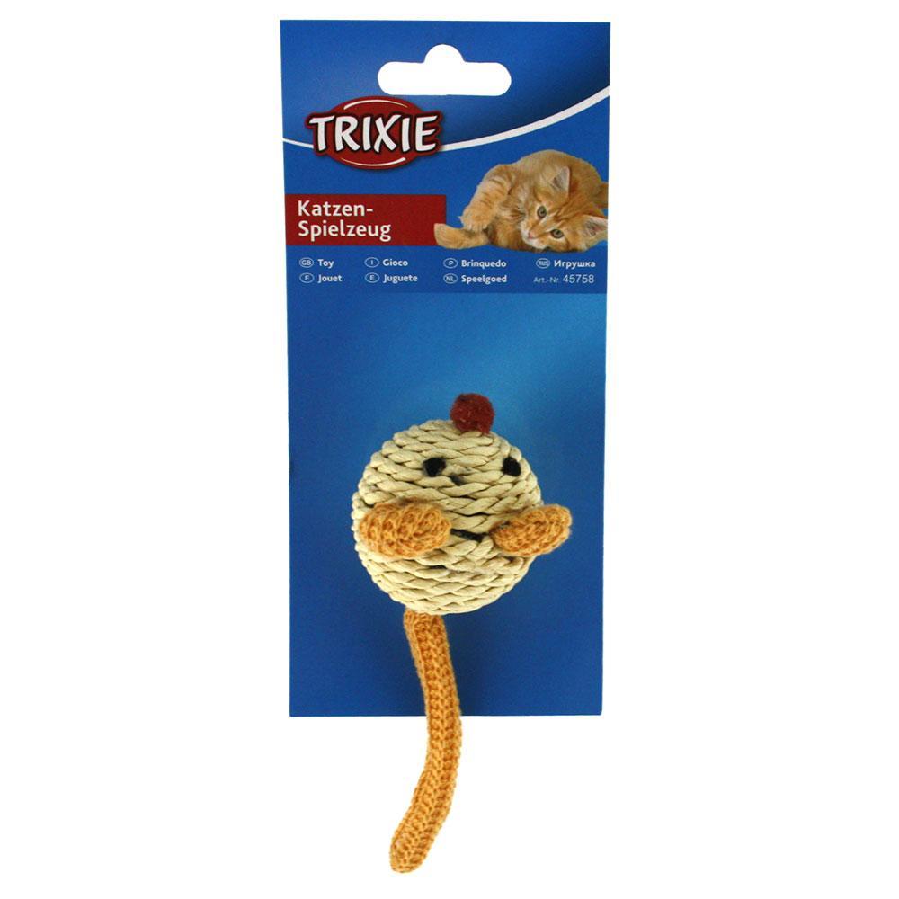 Игрушки для котов и котят мышка бумажная пряжа с погремушкой, Trixie, 5 см