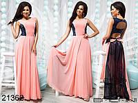 Стильное платье в пол с паетками, бордовый, мята, персик