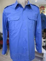 Рубашка мужская форменная голубая, униформа для охраны