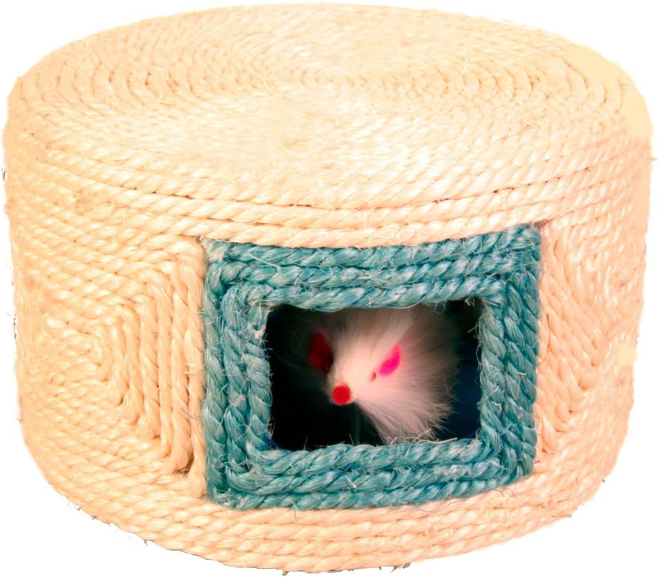 Игрушки для котов и котят мышка в сизалевом домике, Trixie, 16*10 см