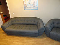 Перетяжка  радиусной мягкой мебели.
