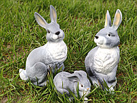 Садовая фигура Семья зайцев №4. декоративная фигура.