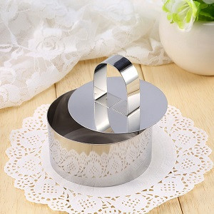 Кругла форма для гарнірів і мусу з пресом SNS 7,5 х 7,5 см