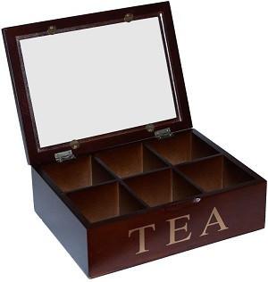 Коробка для зберігання чаю на 6 секцій