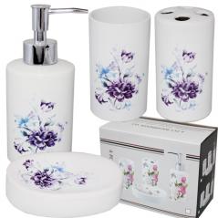 """Керамический набор для ванной комнаты S&T """"Цветы"""""""