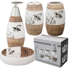 """Керамический набор для ванной комнаты S&T """"Пчелка"""""""