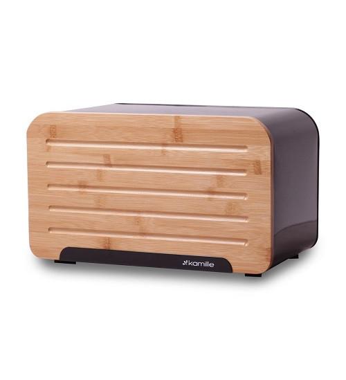 Хлібниця Kamille з бамбуковою кришкою горизонтальна