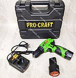 Аккумуляторный шуруповерт Procraft 12 LiS, фото 2