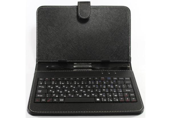 """Чехол для планшета универсальный чехол с клавиатурой с диагональю 7""""Black"""