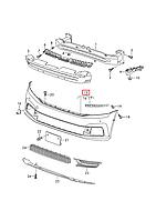 Бампер передний VW Passat B8 USA 2015-2019     561807217D GRU