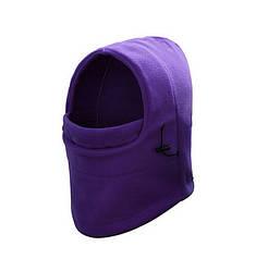 Балаклава флисовая зимняя AricXi, подшлемник, баф, маска, Фиолетовый (319502)