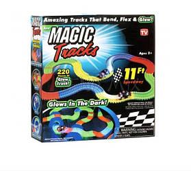 Гоночный конструктор трек Magic Tracks на 220 деталей Led подсветка (292302)