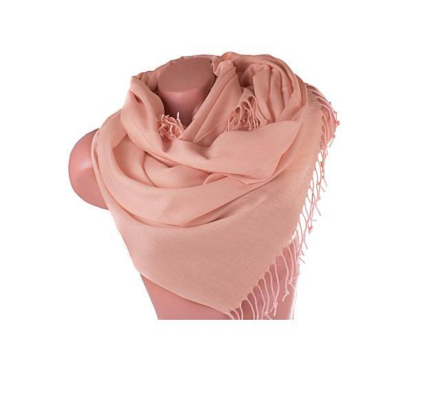 Шарф палантин Marina D'Este бежево-розовый (255004)