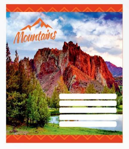 Зошит шкільний Knopka, 12 аркушів, лінія, Mountains, 20/560, 00034 (1/20/560)