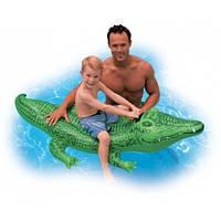 Детский надувной плотик для плавания Intex 58546 Крокодил