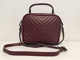 Жіноча шкіряна сумка 8832 бордо