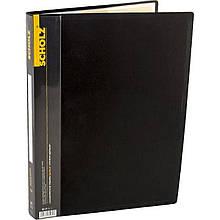 Папка з файлами Scholz. 06503, А4, 40 файлів, 700 мкн, чорна