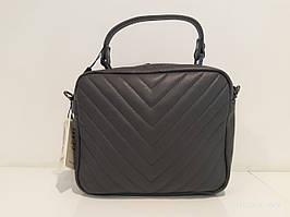 Жіноча шкіряна сумка 8832 сіра