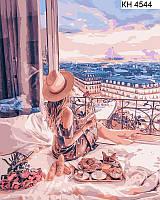 Картина по номерам Отдых в Париже (КНО4544) раскраски по цифрам DIY ТМ Идейка