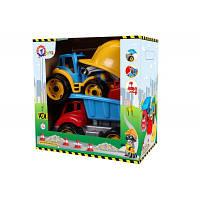 Игрушка машинка пластиковаяМалыш-строитель 2 ТехноК, арт. 3985