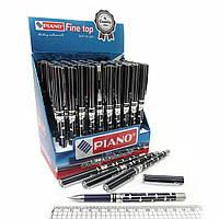 "Ручка масляна ""Piano"" метал., син"