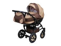 Детская коляска 2 в 1 Angelina Discovery коричневая 003