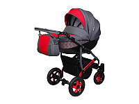 Детская коляска 2 в 1 Angelina Viper Burano красная color 40