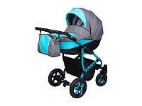 Детская коляска 2 в 1 Angelina Viper Spiral бирюзовая color 30