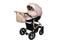 Детская коляска 2 в 1Angelina Viper Spiral бежевая color 33