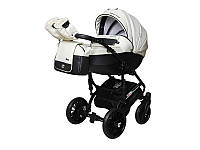 Детская коляска 2 в 1 Angelina Phaeton Black Star Comfort белая color 15