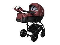 Детская коляска 2 в 1 Angelina Phaeton Black Star Comfort бордовая color 19