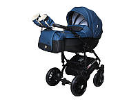 Детская коляска 2 в 1Angelina Phaeton Black Star Comfort синяя color 21