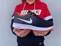 Мужские кроссовки Nike Zoom в стиле Найк Зум (демисезонные, сетка, черные с серым)