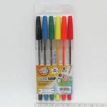 Набір кулькових ручок Beifa, 6 кольорів