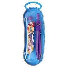 Циркуль в пласт.пеналі з запас.гриф.12,2 див. металевий, фіолетовий, 9023-07 CLASS