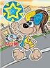 Блокнот Фолдер Дитячий (з глітером) формат А7,50 аркушів, спіраль, фото 6