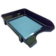 Лоток для паперів горизонтальний ЛГ-06, чорний, КІП