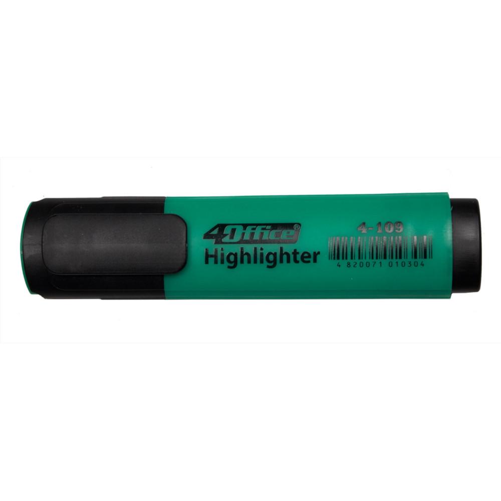 Текстмаркер, 1-5мм, зелений, 4-109, 4Office
