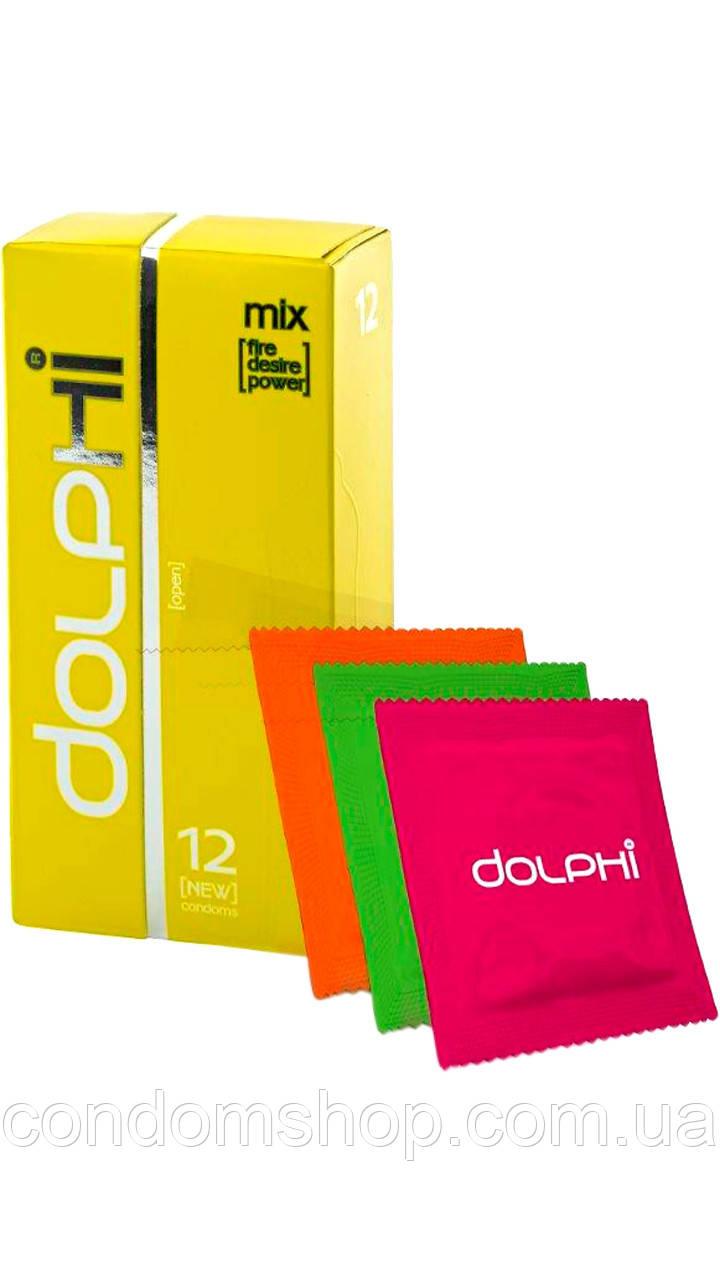 Презервативи Dolphi Долфі LUX NEW МІКС ЗІГРІВАЮЧІ+LONG LOVE +2 в 1. (3 види в упаковці ).#12. PREMIUM!!!