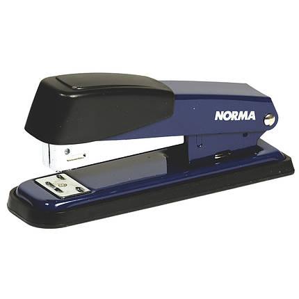 Степлер металевий Norma, 4123, № 24/6-26/6, 20 аркушів, 60 мм, синій, фото 2