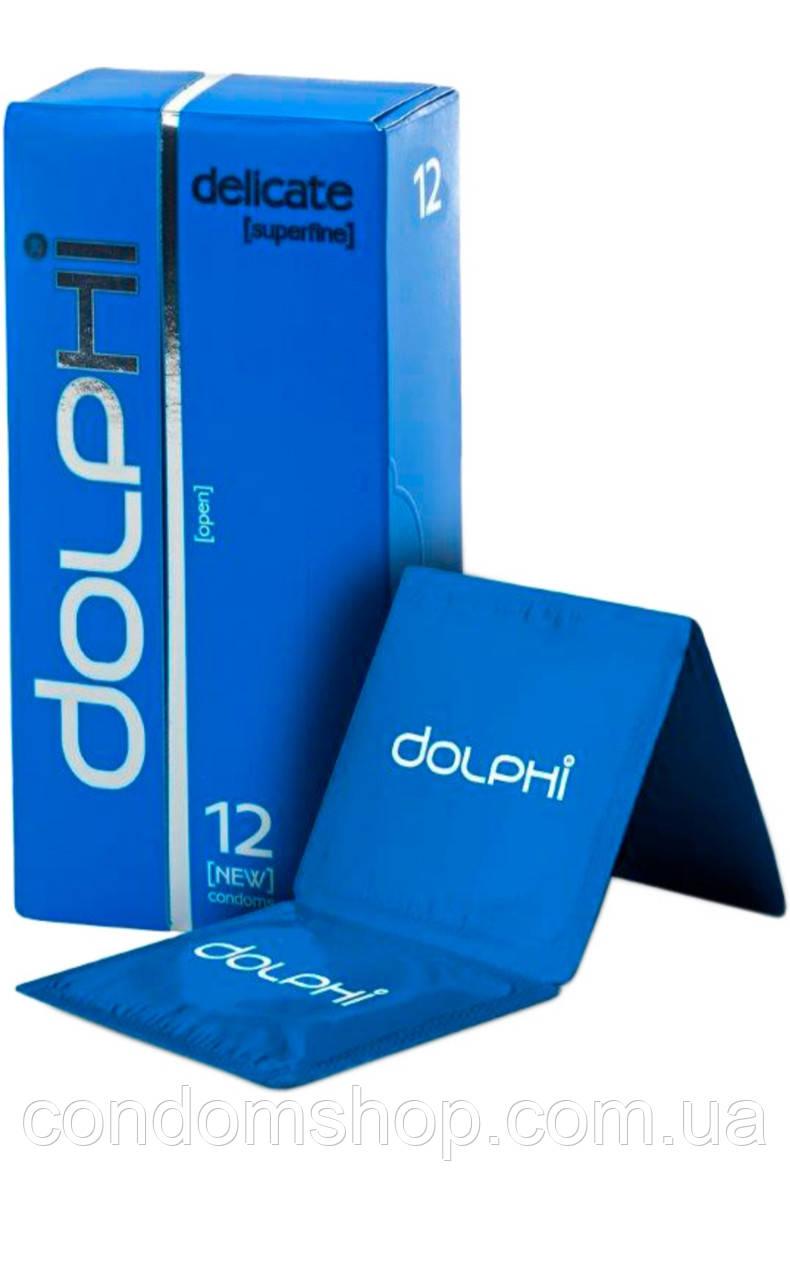 Презервативи Dolphi lux new СУПЕРТОНКІ DELICATE #12 .Преміум клас!