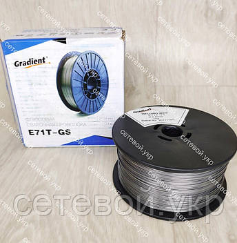 Флюсова зварювальний дріт для напівавтомата Gradient E71T-GS 0.8 мм, фото 2