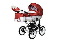 Детская коляска 2 в 1 Angelina Phaeton White Star Classic красная color 57