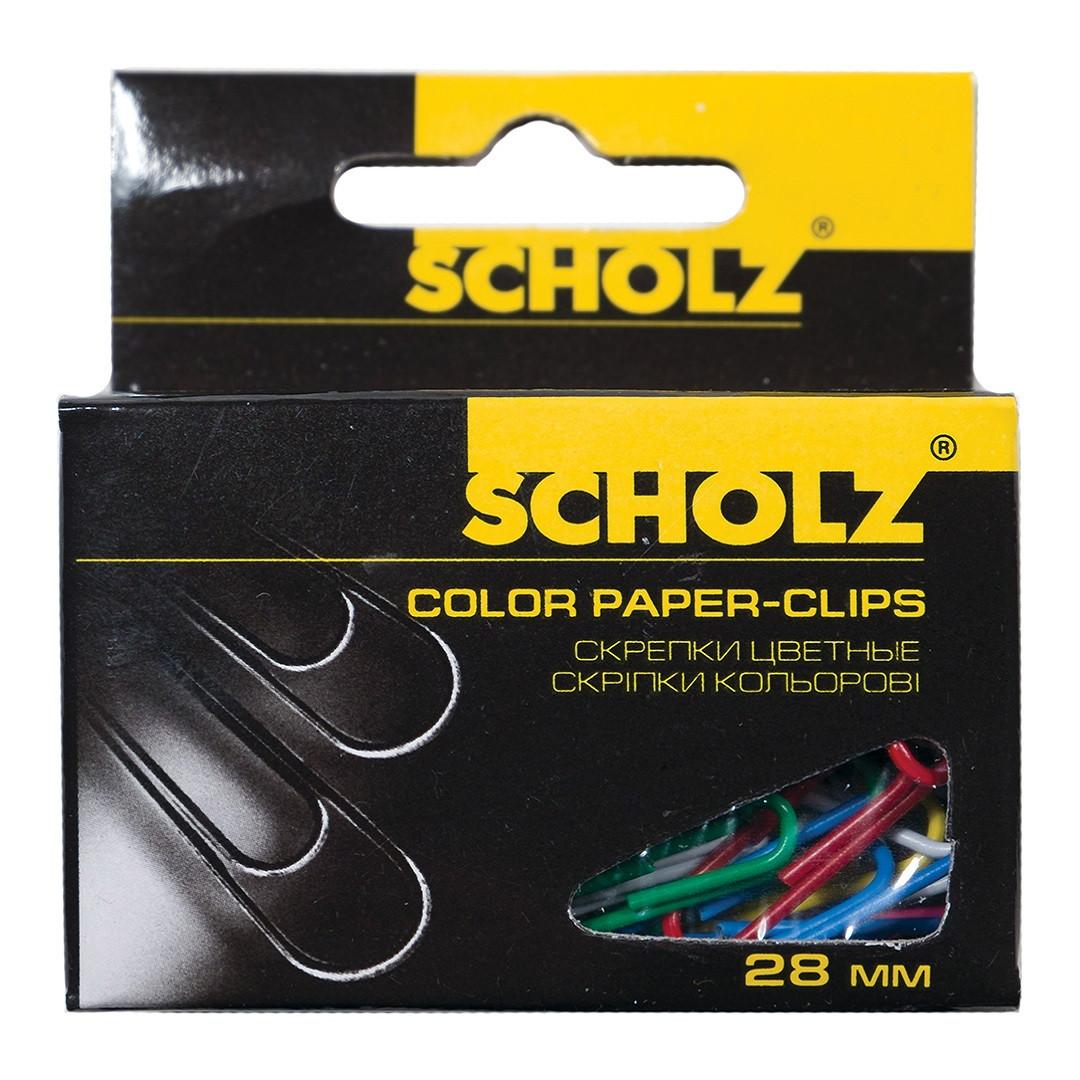 Скріпки Scholz, 4755, 28 см, 100 шт, РР, Кольори в асортименті