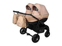 Детская коляска для двойни 2 в 1 Angelina Amadeo Duo бежевая color 7